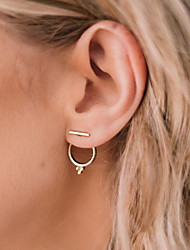 cheap -Stud Earrings Jacket Earrings Geometrical Ladies Fashion Earrings Jewelry Gold For Daily Office & Career