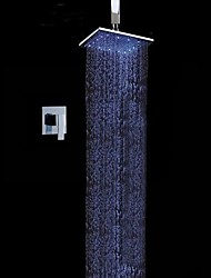 cheap -Shower Faucet - Contemporary Chrome Wall Mounted Ceramic Valve / Brass