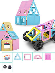 cheap -Magnetic Blocks Magnetic Tiles Building Blocks 110 pcs Architecture Vehicles Car Transformable Classic & Timeless Chic & Modern Boys' Girls' Toy Gift
