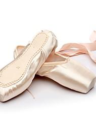 cheap -Dance Shoes Silk Ballet Shoes Flat Customized Heel Customizable Pink / White / EU40