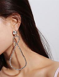 cheap -Women's Drop Earrings Dangle Earrings Oversized Infinity Fashion Oversized Earrings Jewelry Gold / Silver For Party Prom