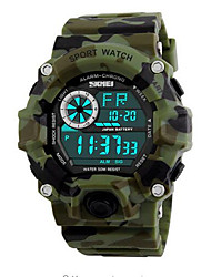 cheap -SKMEI Wrist Watch Digital Quilted PU Leather Black / Green 50 m Water Resistant / Waterproof Calendar / date / day Stopwatch Digital Casual Fashion - Pink Light Green Dark Green / Noctilucent