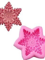 Недорогие -снежинка 3d силиконовые формы торт сахарный цветок торт мусс шоколад мыло формы