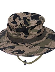cheap -Sun Hat Fishing Hat Hiking Hat Hat UV Resistant Breathable Dust Proof Camo Cotton Summer for Men's Women's Hunting Fishing Climbing Army Green Grey Camouflage