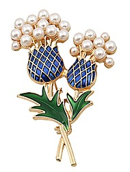 cheap -Women's Brooches Flower Basic Sweet Imitation Pearl Brooch Jewelry Gold For Daily