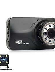 cheap -848 x 480 / 1280 x 720 / 1920 x 1080 Car DVR 170 Degree Wide Angle 3 inch Dash Cam with Night Vision / G-Sensor 9 infrared LEDs Car Recorder