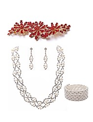 cheap -Women's Hair Combs Bridal Jewelry Sets Dream Catcher European Fashion Imitation Pearl Imitation Diamond Earrings Jewelry White For Wedding Party