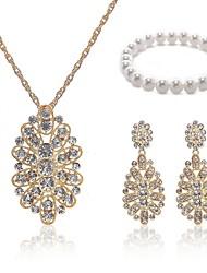 cheap -Women's Bead Bracelet Bridal Jewelry Sets European Fashion Imitation Pearl Imitation Diamond Earrings Jewelry White For Wedding Party