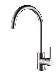 cheap -Kitchen faucet - Single Handle One Hole Chrome Centerset Contemporary Kitchen Taps