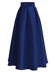 cheap -Audrey Hepburn Vintage Retro 1950s Ethnic Fashion Skirt Women's Silk Costume Black / Blue / Pink Vintage Cosplay Dailywear Ankle Length / Waist Belt / Waist Belt