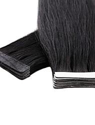cheap -Neitsi Tape In Human Hair Extensions Straight Human Hair Eurasian Hair 1pack Women's Female Medium Brown