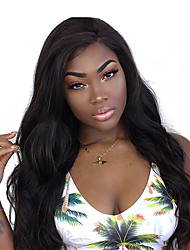 cheap -Human Hair Lace Front Wig style Indian Hair Body Wave Kinky Curly Wig 250% Density Natural Hairline Women's Medium Length Long Human Hair Lace Wig SunnyQueen