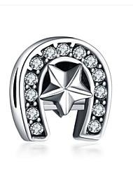 cheap -DIY Jewelry 1 pcs Beads Imitation Diamond Alloy White Purple Irregular Bead 0.2 cm DIY Necklace Bracelet