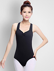 cheap -Ballet Leotard / Onesie Ruffles Women's Performance Sleeveless Natural Acrylic