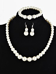 cheap -Women's Jewelry Set Ladies Bohemian European Sweet Boho Imitation Pearl Earrings Jewelry White For Wedding Party Evening Party Masquerade Engagement Party Prom