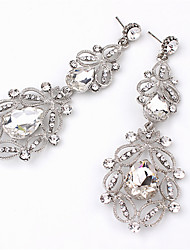 cheap -Women's Crystal Drop Earrings Pear Cut Drop Ladies Fashion Imitation Diamond Earrings Jewelry White / Blue For Wedding Daily Masquerade Engagement Party Prom Going out
