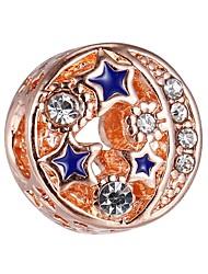Недорогие -Ювелирные изделия DIY 1 штук Бусины Сплав Розовое золото Шарообразные Шарик 0.43 cm DIY Ожерелье Браслеты