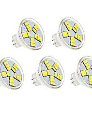 cheap -5pcs 3 W LED Spotlight 350 lm MR11 MR11 15 LED Beads SMD 5730 Decorative Warm White Cold White 12 V / 5 pcs / CE Certified
