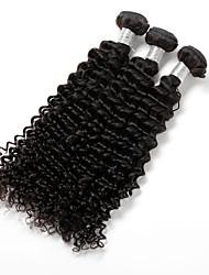 cheap -3 Bundles Hair Weaves Indian Hair Curly Human Hair Extensions Virgin Human Hair Human Hair Natural Color Hair Weaves / Hair Bulk / Short / Unprocessed Human Hair