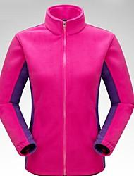 cheap -Women's Hiking Fleece Jacket Winter Outdoor Warm Thick Top Cotton Fleece Single Slider Running Fishing Climbing Sky Blue / Fuchsia / Orange / Yellow / Burgundy Hiking Fleece Camping & Hiking Apparel