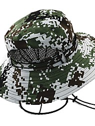 cheap -Sun Hat Hiking Hat Boonie hat Hat Wide Brim Sunscreen UV Resistant Camo Cotton Spring Summer for Men's Women's Hunting Fishing Climbing Green Camouflage Blue