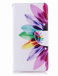 Недорогие -Кейс для Назначение Nokia Nokia 8 / Nokia 6 / Nokia 5 Кошелек / Бумажник для карт / со стендом Чехол Цветы Твердый Кожа PU