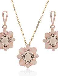 cheap -Women's Opal Drop Earrings Necklace Flower Ladies Classic Fashion Opal Imitation Diamond Earrings Jewelry Gold For Daily