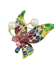 cheap -Women's Brooches Butterfly Ladies Simple Fashion Brooch Jewelry Green For Daily Going out