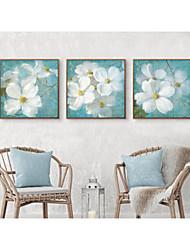 cheap -Framed Set Floral/Botanical Illustration Wall Art, PS Material With Frame Home Decoration Frame Art Living Room