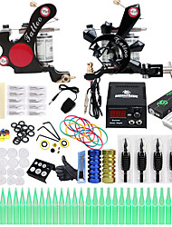 cheap -Professional Tattoo Kit Tattoo Machine - 2 pcs Tattoo Machines, Professional LCD power supply 2 alloy machine liner & shader