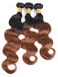 cheap -3 Bundles 150g Brazilian Hair Body Wave Virgin Human Hair Natural Black Human Hair Weaves / Hair Bulk 8-30 inch Hot Sale / Shedding Free / Double Weft Human Hair Extensions