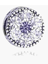 cheap -DIY Jewelry 1 pcs Beads Imitation Diamond Alloy Silver Round Bead 0.2 cm DIY Necklace Bracelet