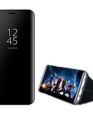 Недорогие -Кейс для Назначение Huawei Mate 10 / Mate 10 pro / Mate 10 lite со стендом / Зеркальная поверхность / Флип Чехол Однотонный Твердый ПК / Mate 9 Pro