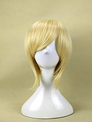 cheap -Cosplay Costume Wig Synthetic Wig Princess Tomoyo The Prince of Tennis Straight Cosplay Layered Haircut Wig Blonde Short Brown Blonde Blue Green Purple Synthetic Hair 10 inch Men's Cosplay Synthetic