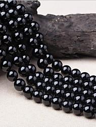 Недорогие -Ювелирные изделия DIY 38 штук Бусины Хрусталь Черный Круглый Шарик 1 cm DIY Ожерелье Браслеты