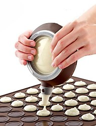 cheap -Silicone Macaron Pot with 3 Nozzles Kit Baking Pen For Cake Decorating Tools