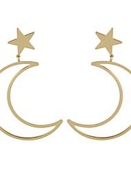 cheap -Women's Drop Earrings Moon Star Ladies Simple Basic Earrings Jewelry Gold / Silver For Daily Date