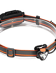 cheap -ANOWL LS2233 Headlamps Headlight 200 lm LED LED 1 Emitters 3 Mode Portable Professional Camping / Hiking / Caving Everyday Use Diving / Boating Black / Orange