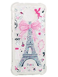 cheap -Case For Motorola Moto G5s / Moto E4 Shockproof / Flowing Liquid / Pattern Back Cover Eiffel Tower Soft TPU