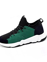 cheap -Men's Comfort Shoes Tulle Spring / Fall Sneakers Running Shoes Breathability Black / Green / Athletic / Lace-up