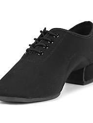 cheap -Dance Shoes Satin Latin Shoes Heel Split Sole Customizable Black