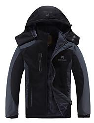 cheap -Men's Hiking Down Jacket Hiking Jacket Outdoor Thermal / Warm Waterproof Windproof Insulated Winter Cotton Jacket Top Running Camping / Hiking Cycling / Bike Black Orange Blue XL XXL XXXL 4XL