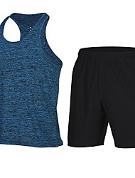 cheap -Men's Racerback 2-Piece Running Tank With Shorts 2pcs Fitness Gym Workout Workout Lightweight Breathable Quick Dry Sportswear Shorts Tank Top Clothing Suit Activewear
