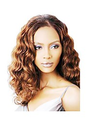 cheap -Synthetic Wig Body Wave Body Wave Wig Medium Length Brown Synthetic Hair Brown