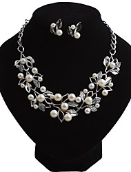 cheap -Women's Jewelry Set Floating Flower Ladies Bohemian European Boho Imitation Pearl Earrings Jewelry Gold / Silver For Party Evening Party