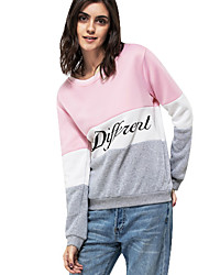 cheap -Women's Maternity Active Sweatshirt - Color Block / Letter Print White S / Fall