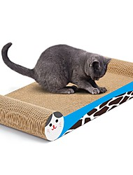 cheap -Scratch Art Paper & Papercrafting Cat Toy Pet Toy One-piece Suit Multi Color Scratch Pad Help to lose weight Catnip Cardboard Paper High Quality Paper Gift
