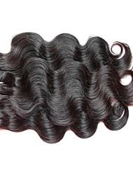 Недорогие -3 Связки Бразильские волосы Волнистый Не подвергавшиеся окрашиванию Человека ткет Волосы 8-24 дюймовый Естественный цвет Ткет человеческих волос Для темнокожих женщин 100% девственница Необработанные
