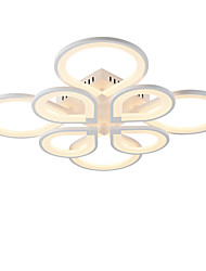 cheap -8-Light 8-Head Modern Style Simplicity Acrylic LED Ceiling Lamp Flush Mount Living Room Dining Room Light Fixture