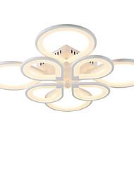 abordables -8 têtes style moderne simplicité acrylique led plafonnier encastré montage salon salle à manger luminaire